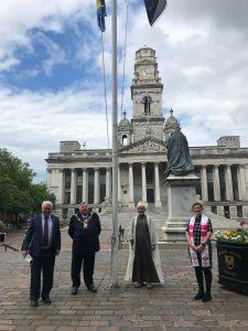 Remembering Srebrenica flag raising